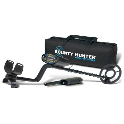 Bounty Hunter Quick Draw II with Pinpointer and Carry Bag - Black