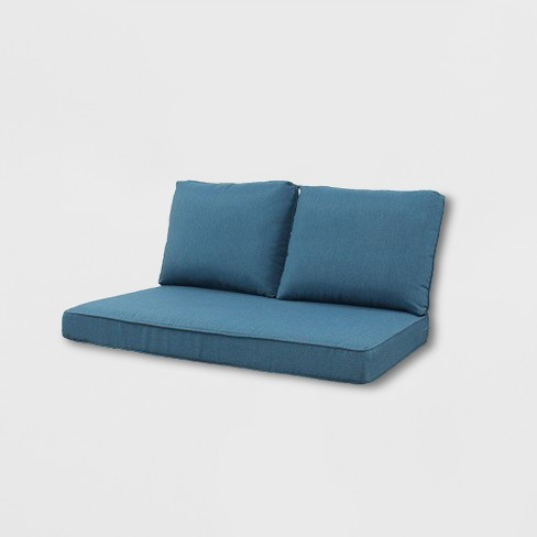 Rolston 3pc Outdoor Loveseat Cushions Blue Grand Basket Target