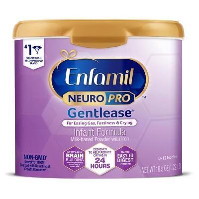 Enfamil NeuroPro Gentlease Infant Formula Powder Tubs (Select Count)