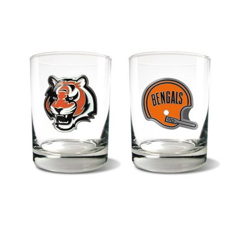 NFL Cincinnati Bengals Rocks Glass Set - 2pc - image 1 of 1