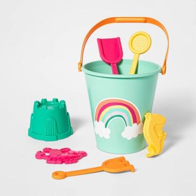 7pc Sand Bucket Set Rainbow - Sun Squad™