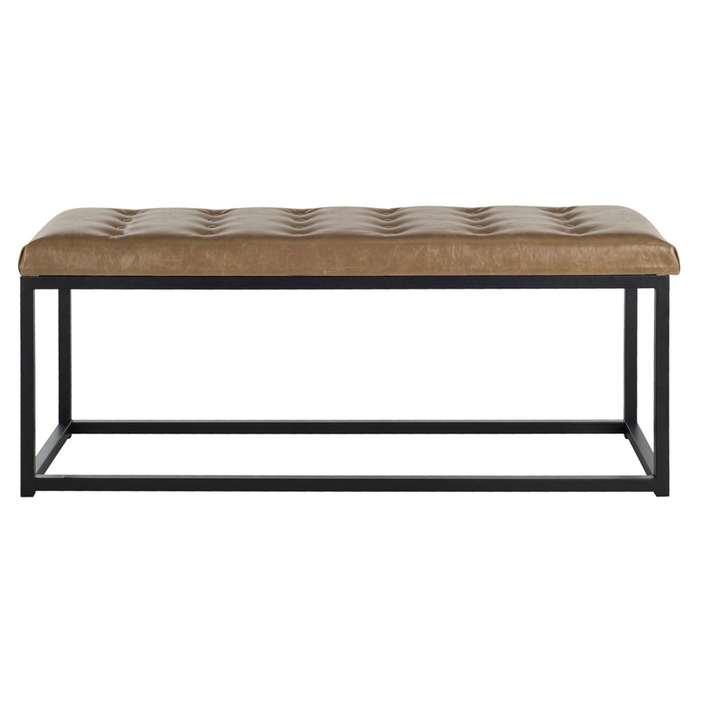 Reynolds Bench - Tan / Black (Tan/Black) - Safavieh