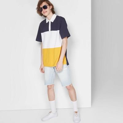 Men's Short Sleeve Retro Pique Polo Shirt   Original Use Orange by Original Use Orange