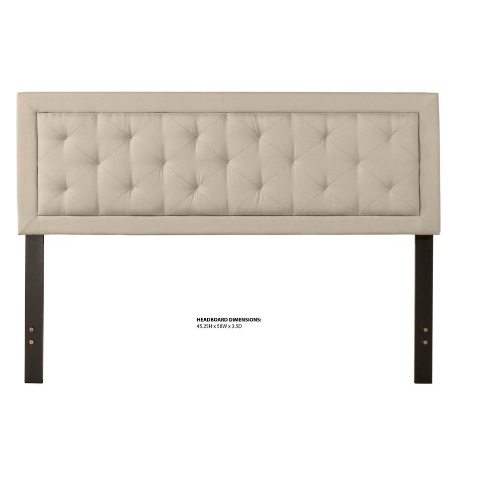 La Croix Upholstered Headboard Full/Queen Smoke (Grey) Fabric Metal Headboard Frame Not Included - Hillsdale Furniture