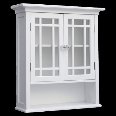 Exceptionnel Neal Wall Cabinet 2 Doors U0026 1 Shelf White   Elegant Home Fashions : Target