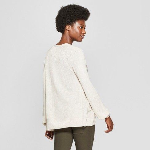 Women s Ribbed Open Layering Sweater - A New Day™   Target d5e00dd93