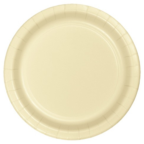 """Ivory 9"""" Paper Plates - 24ct - image 1 of 2"""
