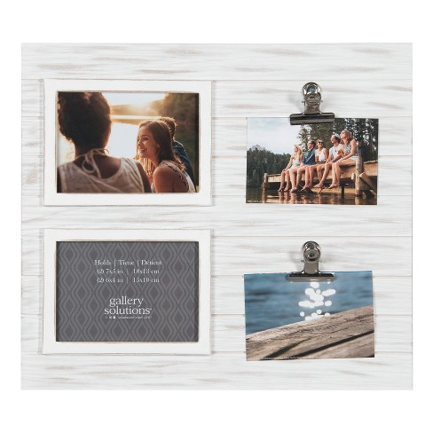 Multiple Picture 16X18 Whitewash Collage Frame  Clip - Gallery Solutions - image 1 of 3