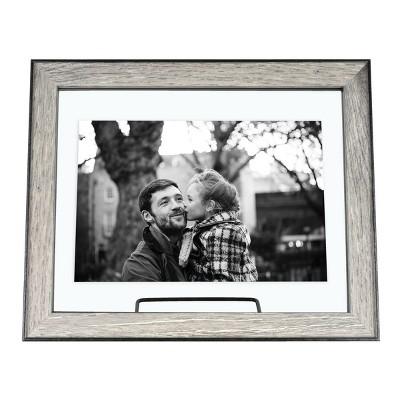 7 X9  Black Accent Float Frame Gray - Threshold™