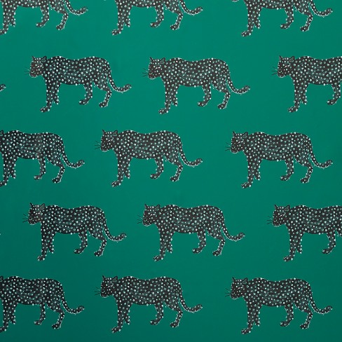 Panther Peel & Stick Wallpaper Green - Opalhouse™ - image 1 of 4