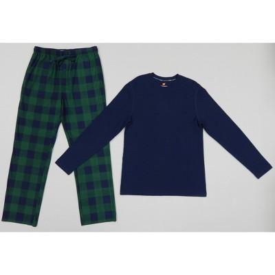 Hanes Men's Long Sleeve Lounge Pajama Set - Navy