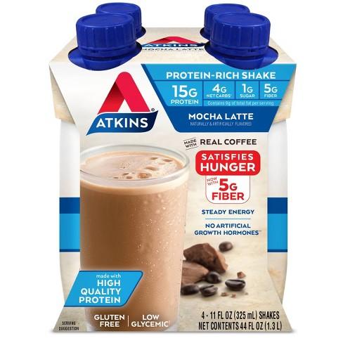 Atkins Protein Shake - Mocha Latte - 4ct - image 1 of 3