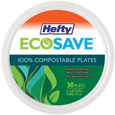 "Hefty EcoSave Molded Fiber 6 3/4"" Plates - 30ct"