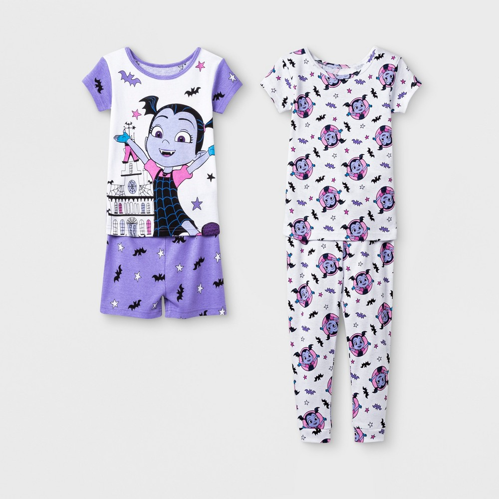 Toddler Girls' Vampirina 4pc Pajama Set - Purple 2T