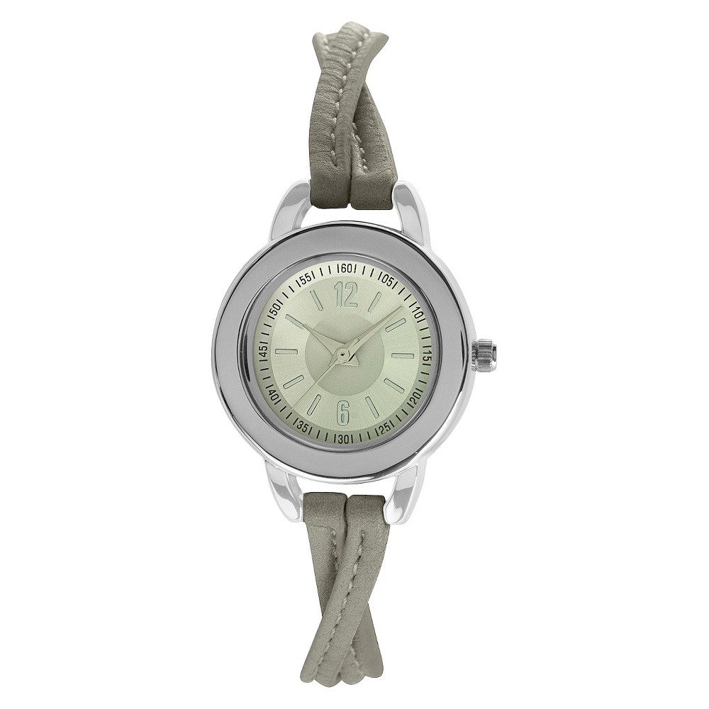 Women's Watch Twist Strap - Xhilaration Gray