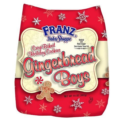 Franz Bake Shoppe Gingerbread Boys Crisp Baked Holiday Cookies 14 Oz