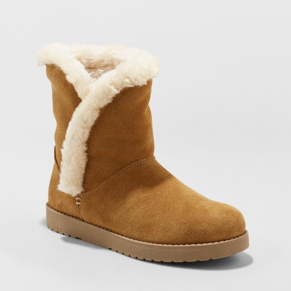 Women's Daniah Suede Winter Boots - Universal Thread Tan 10