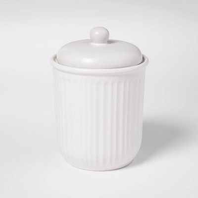 46oz Stoneware Food Storage Canister White - Threshold™