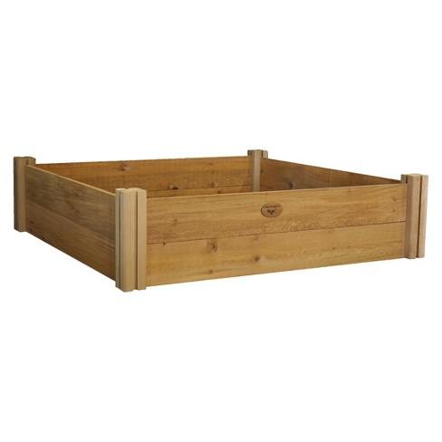 Modular Raised Square Garden Bed Two Level - Brown - Gronomics : Target