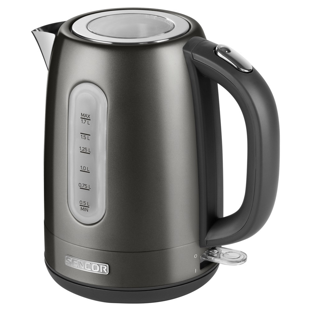 Sencor Metallic 1.7L Stainless Steel Electric Kettle – Black 54281512