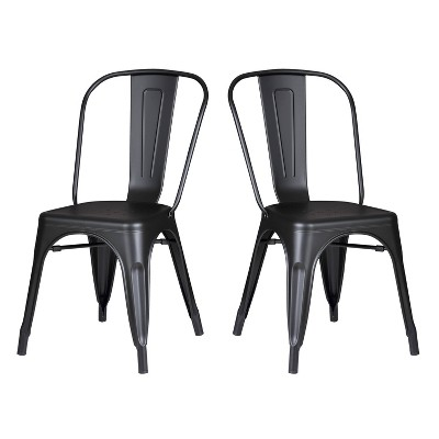 Set of 2 Modern Metal Dining Chairs - AC Pacific