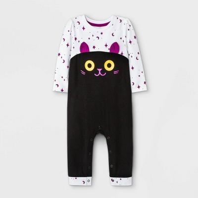 Baby Girls' Cat Long Romper - Cat & Jack™ Purple 0-3M