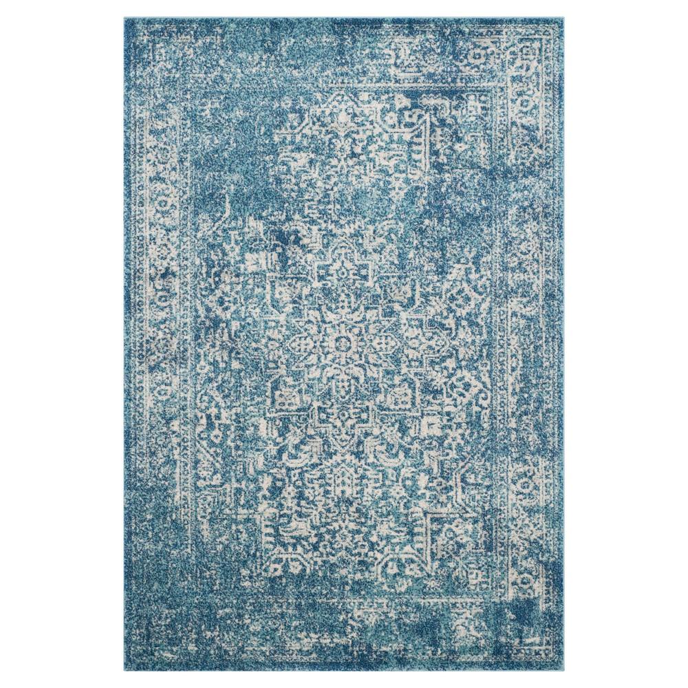 Evoke Rug - Blue/Ivory - 5'1