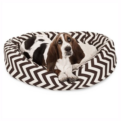 Majestic Pet® Chevron Sherpa Bagel Dog Bed