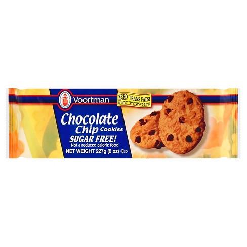 Voortman Sugar Free Chocolate Chip Cookies - 8oz - image 1 of 4