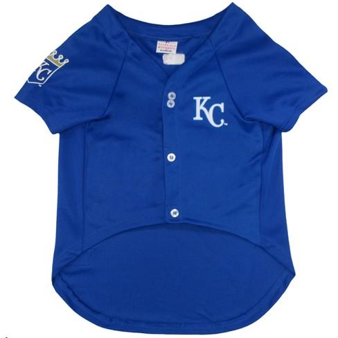 low priced 8656a 516f5 Kansas City Royals Pets First Pet Baseball Jersey - Blue L