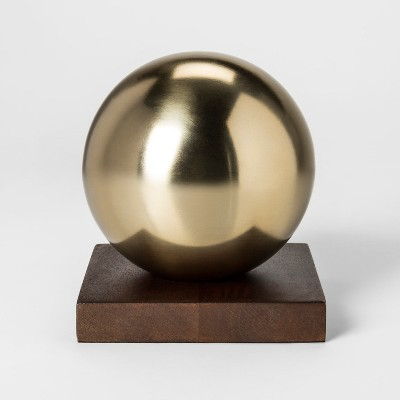 Decorative Ball Sculpture - Gold - Project 62™