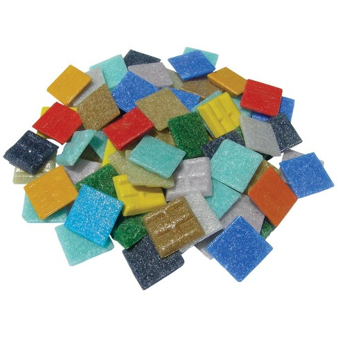 Mosaic Mercantile Authentic Glass Mosaic Tiles, 3/4 Inch, Assorted Colors, 3 Pounds - image 1 of 1