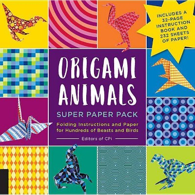 Origami Animals Super Paper Pack - (Origami Super Paper Pack) by  CPI (Mixed Media Product)