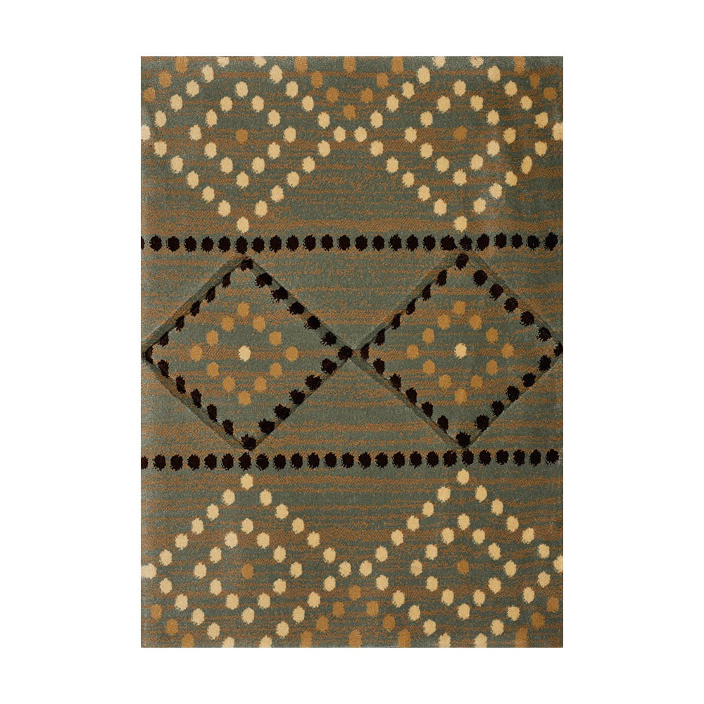 "Image of ""Brown Diamond Hooked Accent Rug - (1'10""""x3') - United Weavers"""