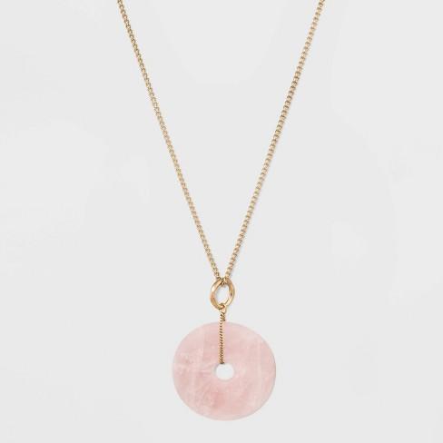 Semi Precious Stone Pendant Necklace - Universal Thread™ - image 1 of 2