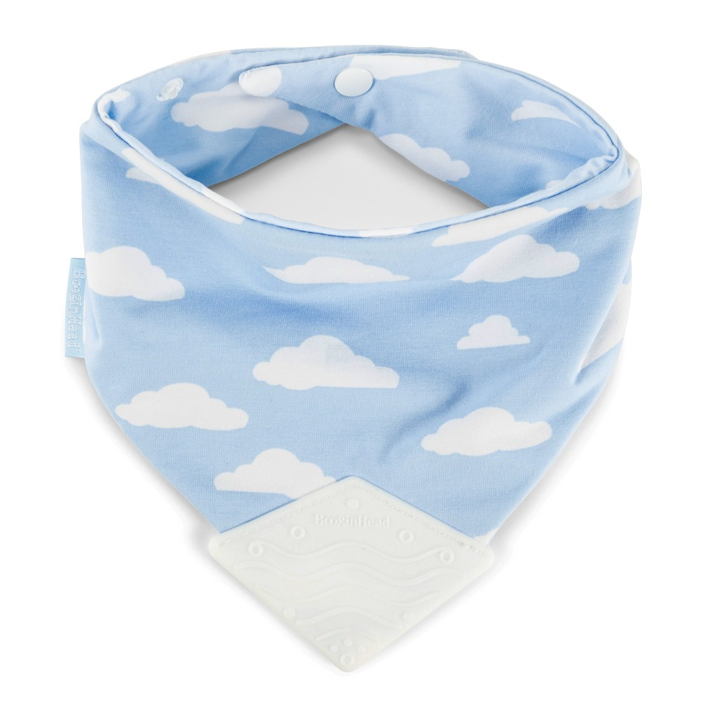 Image of BooginHead Bandana Teether Bib - Blue Clouds