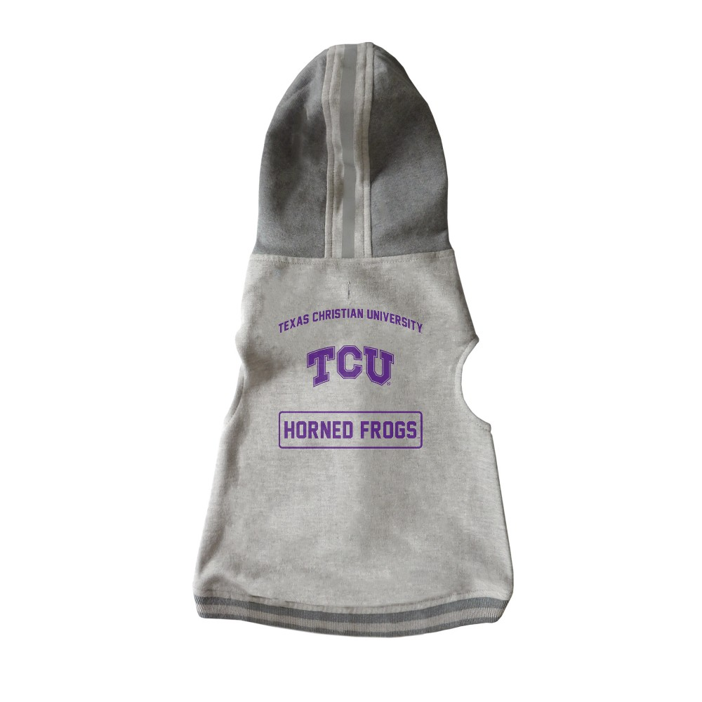 Tcu Horned Frogs Little Earth Pet Hooded Crewneck Football Shirt - M, Multicolored