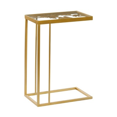 Contemporary Metal and Glass Accent Table Gold - Olivia & May