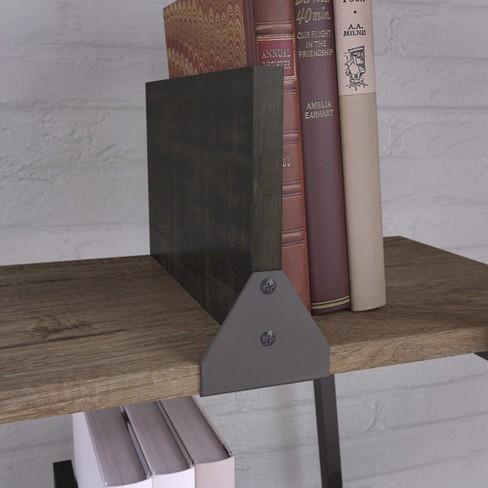 7185 Bush Furniture Refinery A Frame Bookshelf In Rustic Gray Target