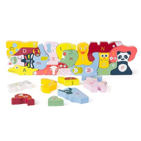 Small Foot Wooden Toys Cute Animals ABC Puzzle - 26pc - image 1 of 4