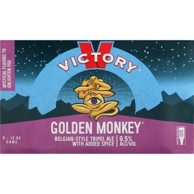 Victory Golden Monkey Belgian-Style Tripel Ale Beer - 6pk/12 fl oz Cans