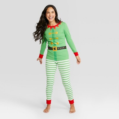 Womens Holiday Elf Pajama Set – Wondershop™ Green S – Target ... c2370906c