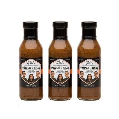 Northlight 3ct Brown Triple Treat Fresh Honey Mustard and Glaze 12 oz.