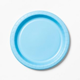"Blue Paper Plate 10"" - 34ct - Up&Up™"