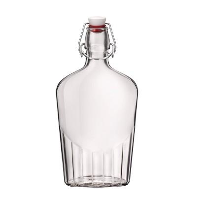 Bormioli Rocco 17oz Flask with Metal Clamp