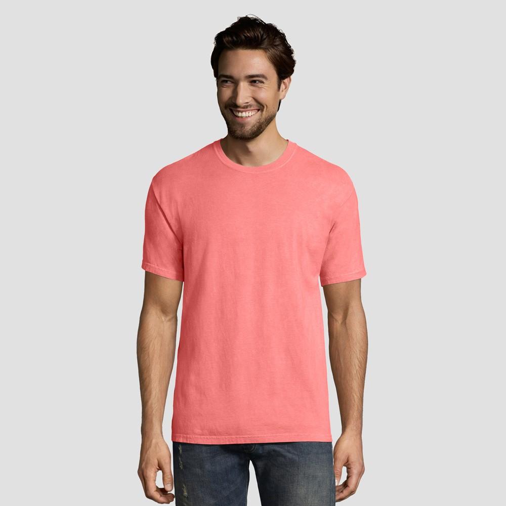 Hanes 1901 Men's Short Sleeve T-Shirt - Coral (Pink) XL