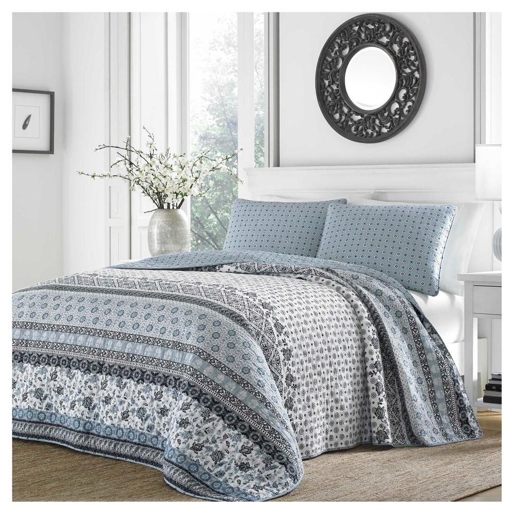 Light Blue Bexley Quilt Set Full Queen Stone Cottage
