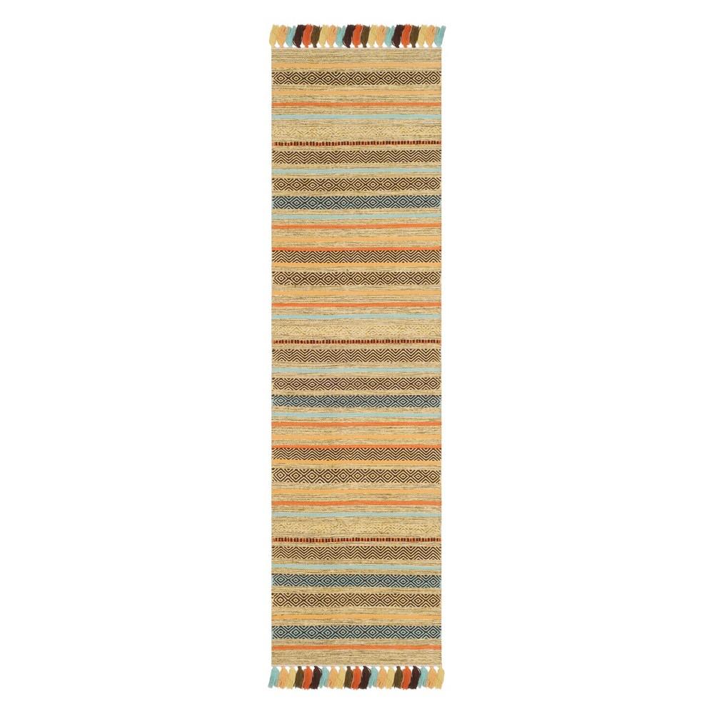 22X8 Stripe Woven Runner Green - Safavieh Discounts