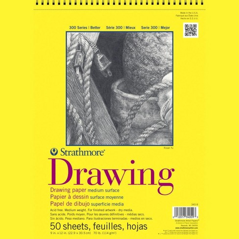 Strathmore 300 Series Drawing Pad, 9 x 12 Inches, 70 lb, 50 Sheets - image 1 of 1