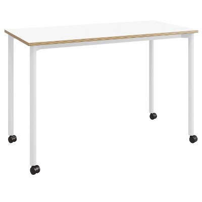 """24""""x48"""" Spright Home Office Desk with Casters - Olio Designs"""